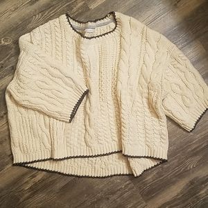Victoria's Secret chunky cropped slouchy sweater
